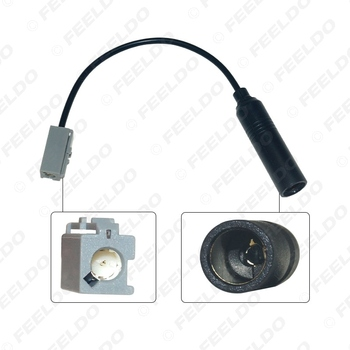 FEELDO 1Pc Automobilio Stereo Radijo 1PIN Male Plug Antenos Adapteris, Skirtas